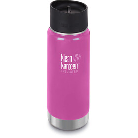 Klean Kanteen Wide Vacuum Insulated Drinkfles Café Cap 2.0 473ml wit